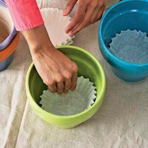 Picture of coffee filters - 12 top home gardening hacks