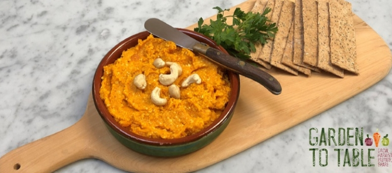Roasted Cashew and Carrot Dip