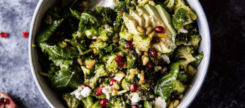 Lemon Garlic Roasted Broccoli Salad