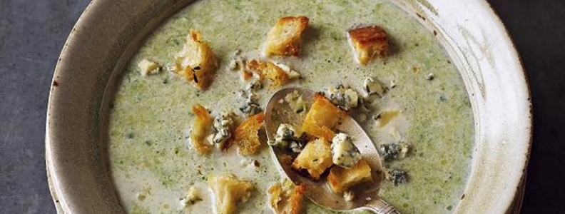 Blue Cheese and Broccoli Soup