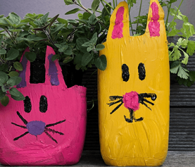 DIY Easter Bunny Planter