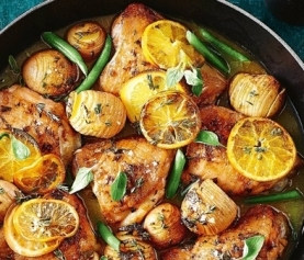One-pan Lemon & Chicken Potato Bake