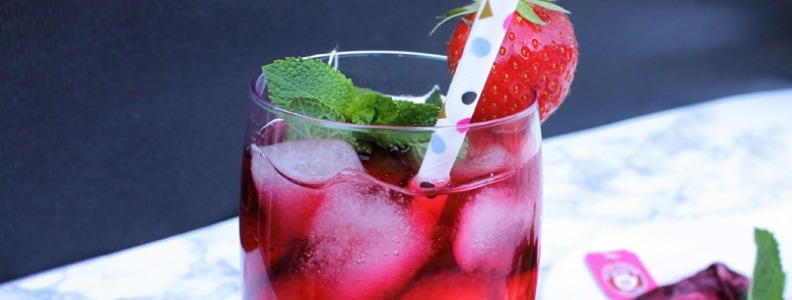 Strawberry Mint & Hibiscus Iced Tea - Palmers Garden Centre
